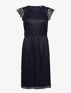 Lace Cap-Sleeve Dress - LIGHTHOUSE NAVY