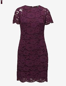 Floral Lace Dress - PASSION PLUM