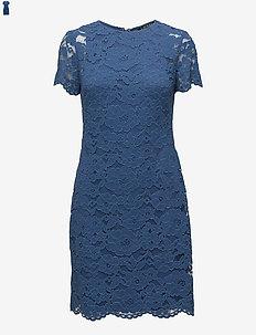 Floral Lace Dress - PORTER BLUE