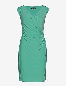Ruched Jersey Dress - DEEP AQUA