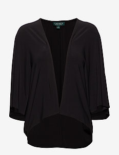 TOVAH-ELBOW SLEEVE-CARDIGAN - BLACK