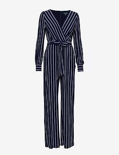 Striped Jersey Jumpsuit - LIGHTHOUSE NAVY/C