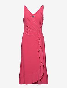 Ruffle-Trim Ruched Dress - STARFRUIT