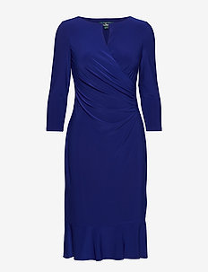 Keyhole Jersey Dress - CANNES BLUE