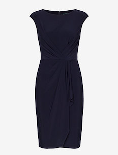 Ruched Cap-Sleeve Dress - LIGHTHOUSE NAVY