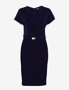 BONDED MJ-DRESS W/ BELT - LIGHTHOUSE NAVY