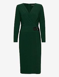 CLASSIC MJ-DRESS - wikkel jurken - deep pine