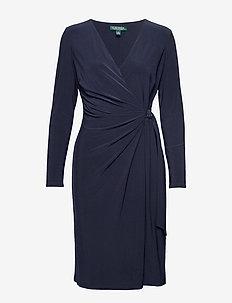 CLASSIC MJ-DRESS W/ TRIM - wikkel jurken - lighthouse navy