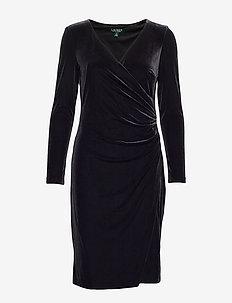 RADIANT STR VELVET-DRESS - BLACK