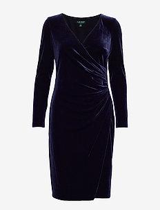 RADIANT STR VELVET-DRESS - LIGHTHOUSE NAVY