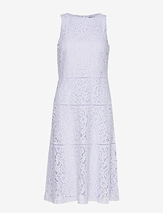 Lace Fit-and-Flare Dress - blondekjoler - blue orchid
