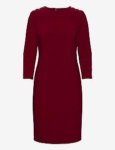 BONDED MJ-DRESS W/ TRIM - midi kjoler - romantic garnet