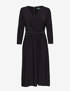Jersey Twist Dress - BLACK