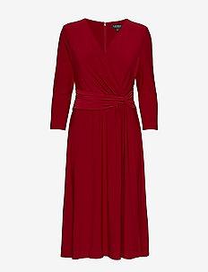 Jersey Twist Dress - VIBRANT GARNET