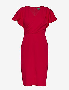 LUXE TECH CREPE-DRESS - robes portefeuille - scarlet red