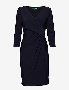 Surplice Jersey Dress - stramme kjoler - lighthouse navy