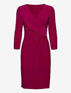 Surplice Jersey Dress - midi kjoler - modern dahlia