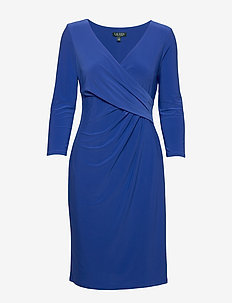 Surplice Jersey Dress - REGAL SAPPHIRE