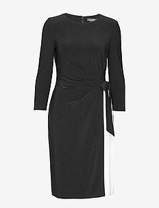 Two-Tone Jersey Dress - midi kjoler - black/lauren whit