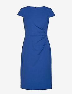 LUXE TECH CREPE-DRESS W/ CAP SLV - FRENCH BLUE