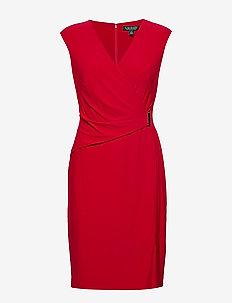 CLASSIC MJ-DRESS W/ TRIM - PARLOR RED
