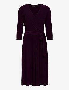 Surplice Jersey Dress - wikkel jurken - raisin