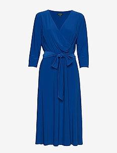 Surplice Jersey Dress - omslagskjoler - regal sapphire