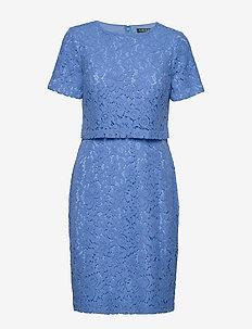 Popover Lace Dress - EOS BLUE