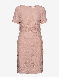 Popover Lace Dress - PINK MACARON