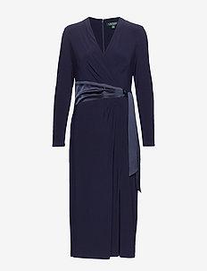 Wrap-Style Jersey Dress - omslagskjoler - lighthouse navy