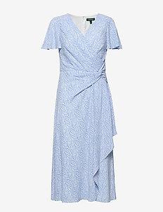 Print Crepe Dress - omslagskjoler - eos blue/colonial