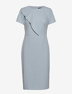 LUXE TECH CREPE-DRESS - TOILE BLUE