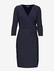 Polka-Dot Jersey Dress - LIGHTHOUSE NAVY/C