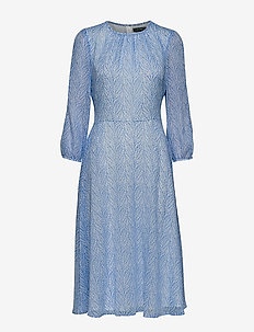 PRINTED GGT-DRESS - EOS BLUE/COLONIAL
