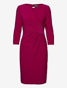Wrap-Style Jersey Dress - midi kjoler - modern dahlia