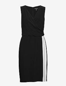 Two-Tone Surplice Dress - wikkel jurken - black/lauren whit