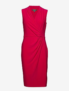 Pleated Jersey Dress - kietaisumekot - berry sorbet