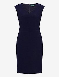 Jersey Cap-Sleeve Dress - korte kjoler - lighthouse navy