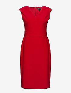 Jersey Cap-Sleeve Dress - korte kjoler - persimmon