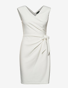 Jersey Cap-Sleeve Dress - midimekot - cream
