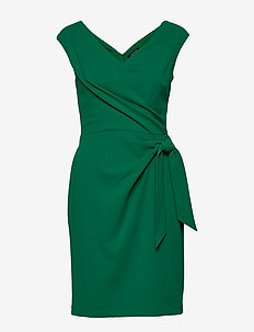 Jersey Cap-Sleeve Dress - midimekot - malachite