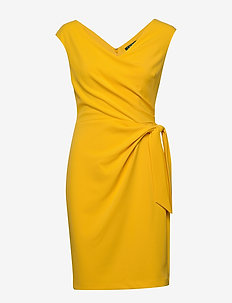 Jersey Cap-Sleeve Dress - midimekot - true marigold