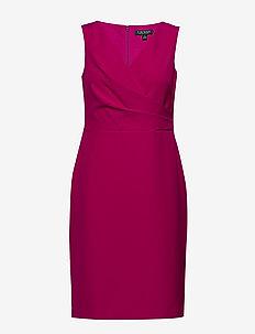 Crepe Surplice Dress - wikkel jurken - bright fuchsia