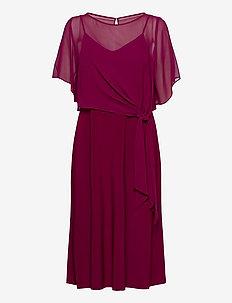 Jersey Fit-and-Flare Dress - sukienki do kolan i midi - exotic ruby