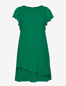 Georgette Boatneck Dress - lyhyet mekot - malachite