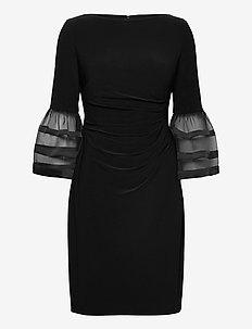 Bell-Sleeve Jersey Dress - robes de cocktail - black