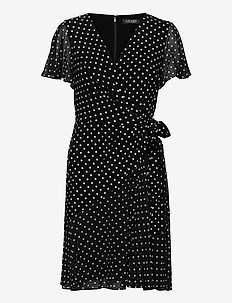 Print Jersey-Georgette Dress - robes de jour - black/colonial cr
