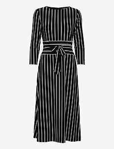 Striped Jersey Dress - robes de jour - black/colonial cr
