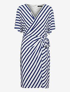 Chevron Jersey Dress - sommerkjoler - col cream/sportin