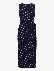 Print Jersey Midi Dress - bodycon jurken - lighthouse navy/c